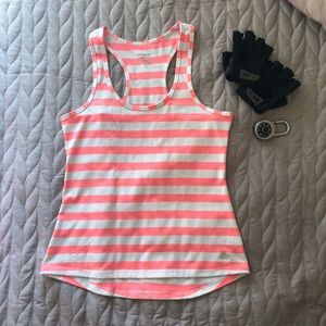 2 for $20 | Tangerine and White Racerback Top